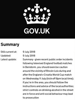Gov.uk warning
