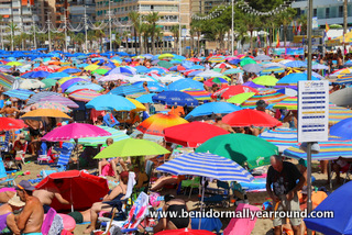 umbrellas on Levante