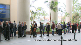 queing outside melia