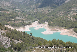 ariel view of guadalest